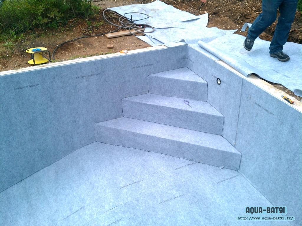 R novation liner piscine aqua bat91 for Installation liner piscine