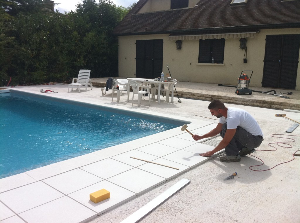 Back camera aqua bat91 for Pose liner piscine beton